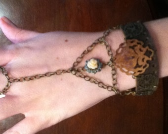 Steampunk Inspired Trailing Bracelet
