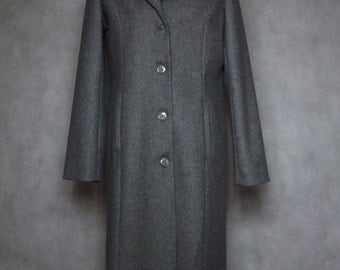 Wool coat / women's wool coat /autumn coat / grey coat