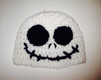 SALE: Crochet Skull Hat