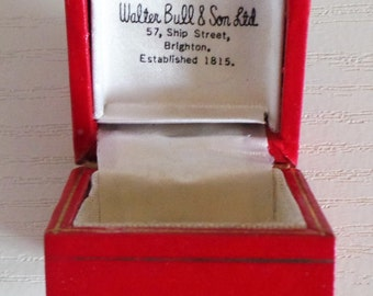 A Rare Walter Bull & Sons Ltd, Brighton / Ring / Earrings / Cuff Links Box - Jewelry / Christmas Present