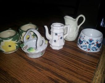potpourri of vintage pieces...minature collection