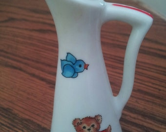 vintage minature enesco imports lucy rigg pitcher