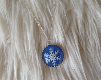 Christmas Necklace, Christmas Gift, Gift Idea, Snowflake Necklace, Christmas Jewlery