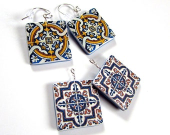 Azulejos Portugueses Earrings - Interchangeable Incognitos