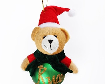 Green Teddy Plush Character Bauble