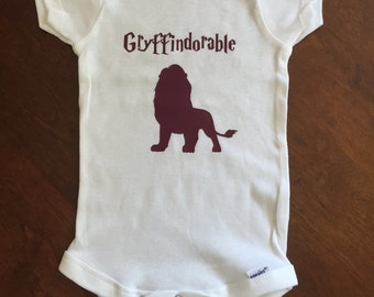Gryffindorable Harry Potter Baby Onesie