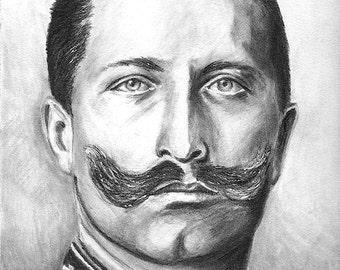 Custom 8.5 x 11 Watercolor Pencil Portrait