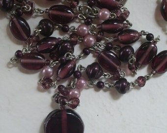 Single strand Amethyst Colored Necklace by Avenue