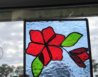 Red 3D Flowers in Bloom Panel