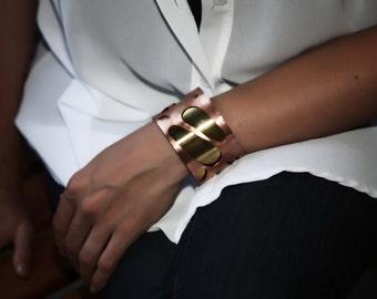 Copper- brass cuff bracelet, woman cuff, gift 60 USD