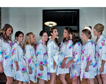wedding party gift ideas personalised bathrobes uk robes bridesmaids civil wedding dresses kimono style top best dressing gowns bridal heels
