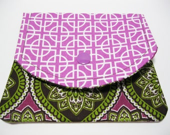 Womans Fabric Wallet, Cotton Fabric Wallet, Credit Card Holder, Gift Card Holder, Business Card Holder, Under 20 Gift Idea For Her