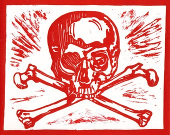 Skull Print - Red 8x10 - Limited Edition [5]