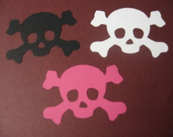 45 Skull Dies-Halloween Dies-Skull Paper Punches-Halloween Punches