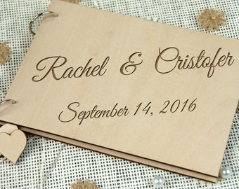 Custom Unique Bridal shower, Wedding, or Anniversary guest book; Personalized Gift for couple, Memorable gift, Photo album, Rustic wedding