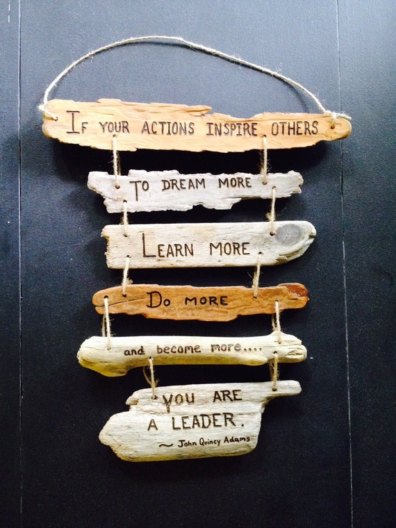 Inspirational Quote Driftwood Sign Collage by DestinationTree