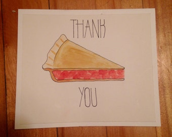Cherry Pie Thank You Card