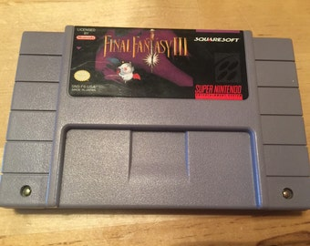 Final Fantasy III | Super Nintendo Game Cartridge | SNES | Colectible 16-Bit Video Game | Final Fantasy 3