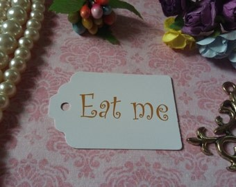 Eat Me Tags - Alice in Wonderland Eat Me Tags - Tea Party or Wedding Tags - Set of 25 to 300 pieces Mini tag
