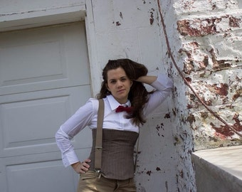 Dr. Who Bow Ties ARE Cool Custom Half Corset Cosplay Outfit