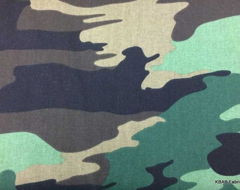 CAMO Fabric By Yard, Half, Fat Quarter Green Brown Jungle Hunting Army Military Camouflage 100% Cotton Quilting Apparel Fabric BTY a2/13