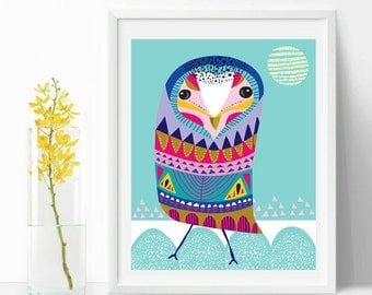 inspirational art wall, Mr Owl, Bird, wall art home decor  decor printable Nursery Decor Kids Room Wall Art Nursery Prints Modern