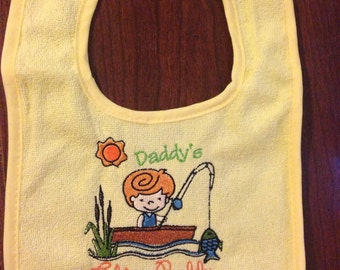 Daddys fishing buddy bib