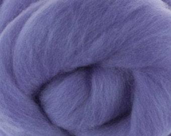 Extra fine Merino wool roving, Lilac, 19 micron, 100 grams/3.5 oz.