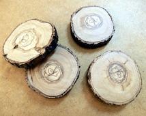 Wooden coasters| Tree trunk slices | Rustic Home Decor Coasters |  Wedding decor