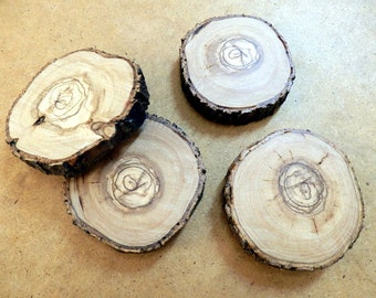 Wooden Coasters| Tree Trunk Slices | Rustic Home Decor Coasters | Wedding  Decor