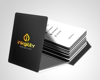"1000  4"" X 3.5"" Metallic Ink Business Cards"