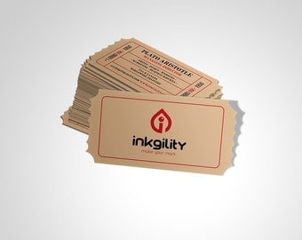 800 Kraft Business Cards Economy Collection