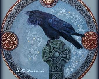 Raven Call of the Ancestors .... cotton rag Giclee Print