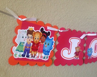 Daniel Tiger, Daniel Tiger's neighborhood, Daniel Tiger banner, name banner