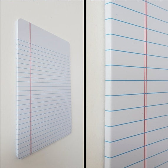 Magnetic Dry Erase Metal Board Notebook Paper Whiteboard
