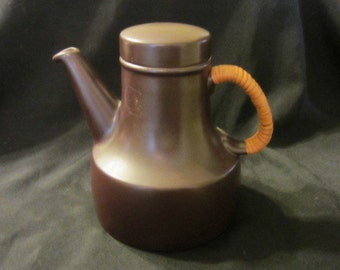 Gustavsberg Terma lidded teapot with cane handle