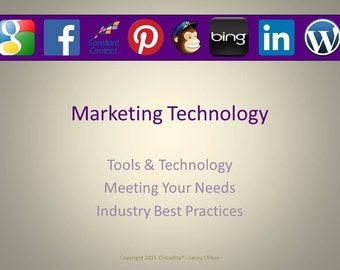 Marketing Technology Presentation Handout (Help with Websites, SEO, Google+, Email, and Blogging)