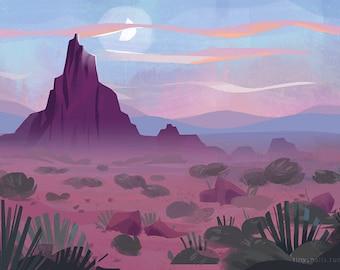 """Desert - 11""""x17"""" Art Print"""