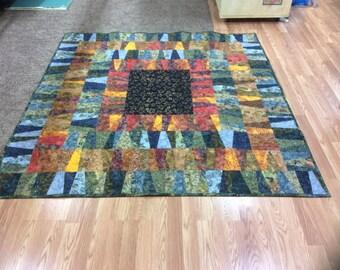 Multi Colored Batik Lap Quilt