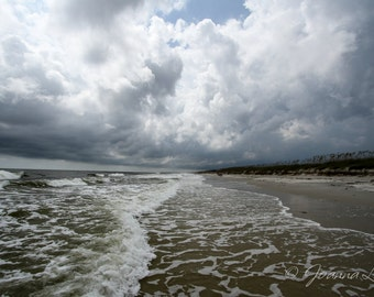 Oak Island NC Stormy Afternoon - Print, Canvas Gallery Wrapped Print