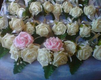 wedding buttonhole package doubles & corsage's