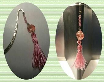 Bookmark swarovski crystal pink