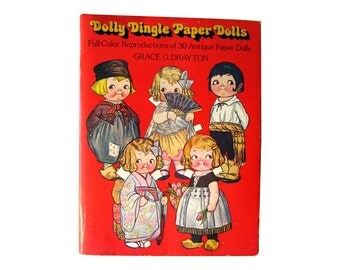 Dolly Dingle Paper Dolls by Grace G Drayton / Womens Magazine Paper Dolls / Gift Book / Campbell Soup Kids Illustrator
