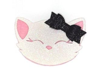 Glitter Cat Clip or Headband