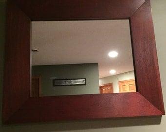 Beveled Mahogany mirror frame