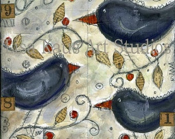 Black Birdies Halloween Print