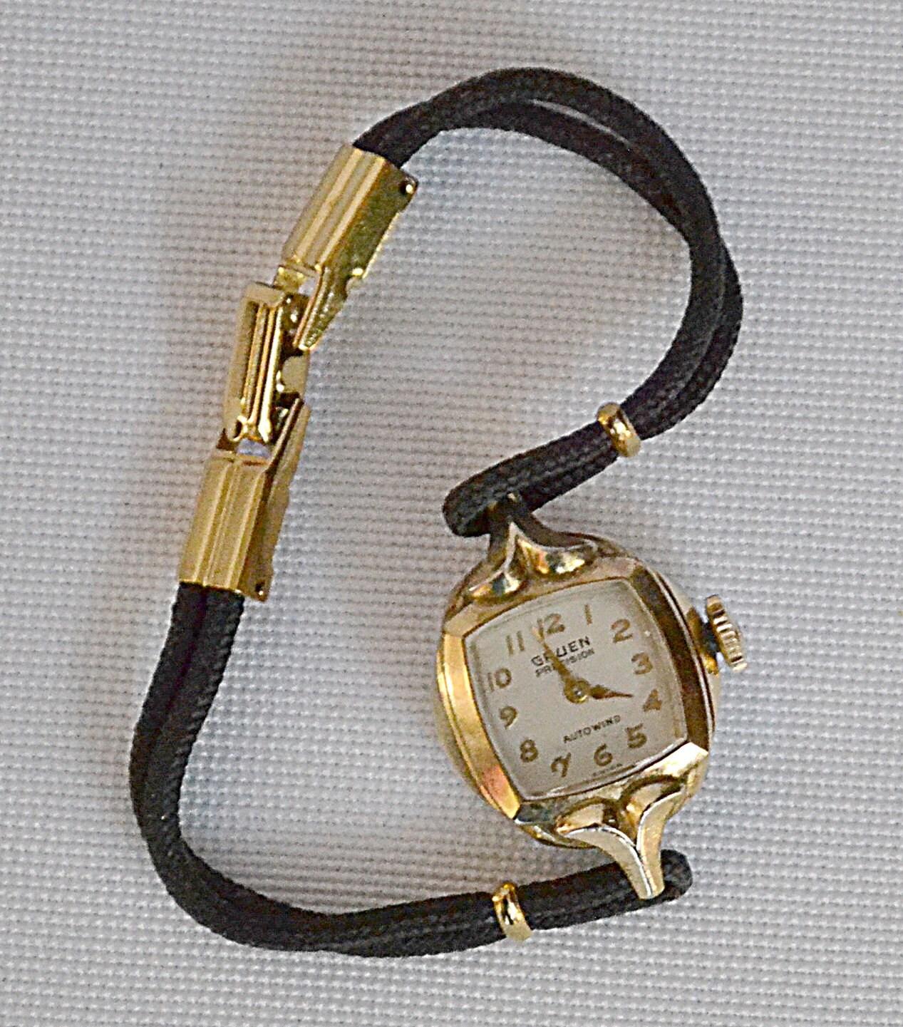Vintage Gruen Precision Autowind Ladies Watch 10 Kt Yellow RGP
