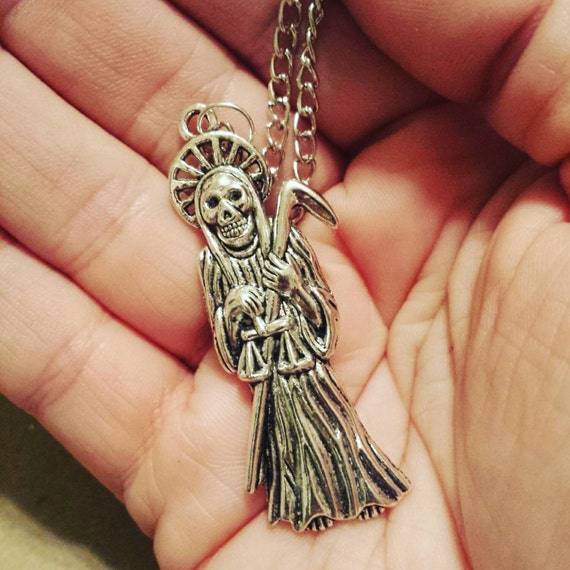 Satan's Waitin' GRIM REAPER necklace