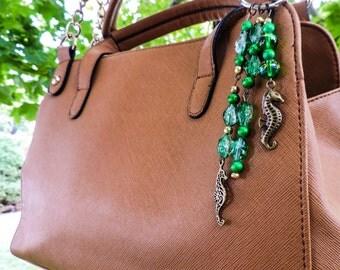 Seahorse purse charm