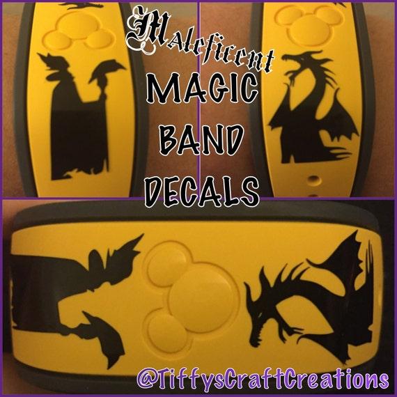 Magic Band Vinyl Decals Maleficent FREE Shipping - Magic band vinyl decals